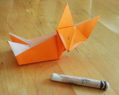 Roule Galette  origami renard