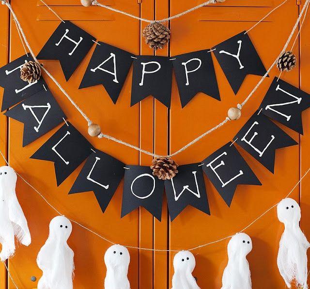 Ideen zur Dekoration des Hauses an Halloween