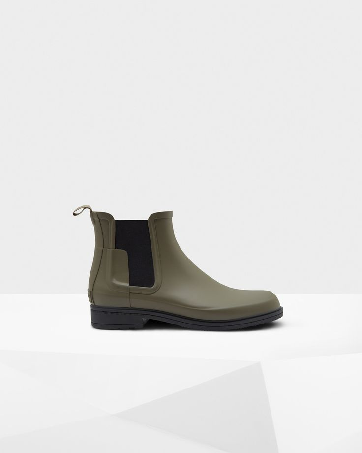Mens Black Refined Dark Sole Chelsea Boots | Official Hunter Boots Store