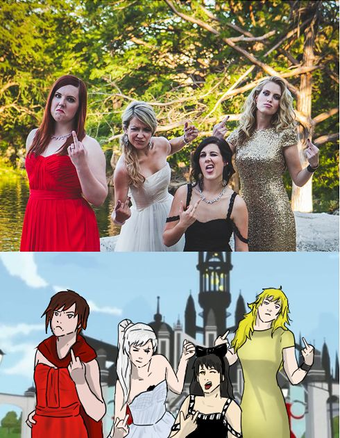 RWBY Cast Redraw by ThisIsntClaire