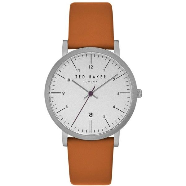 Ted Baker London Samuel Slim Leather Strap Watch, 40Mm (9.075 RUB) ❤ liked on Polyvore featuring jewelry, watches, leather-strap watches, ted baker jewellery, stainless steel wrist watch, slim wrist watch and ted baker