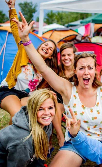 For only 17 euros you have full access to the campsite. It's located nearby the festival site so you can party quick, or get some rest quick! #festivalcamping #summer