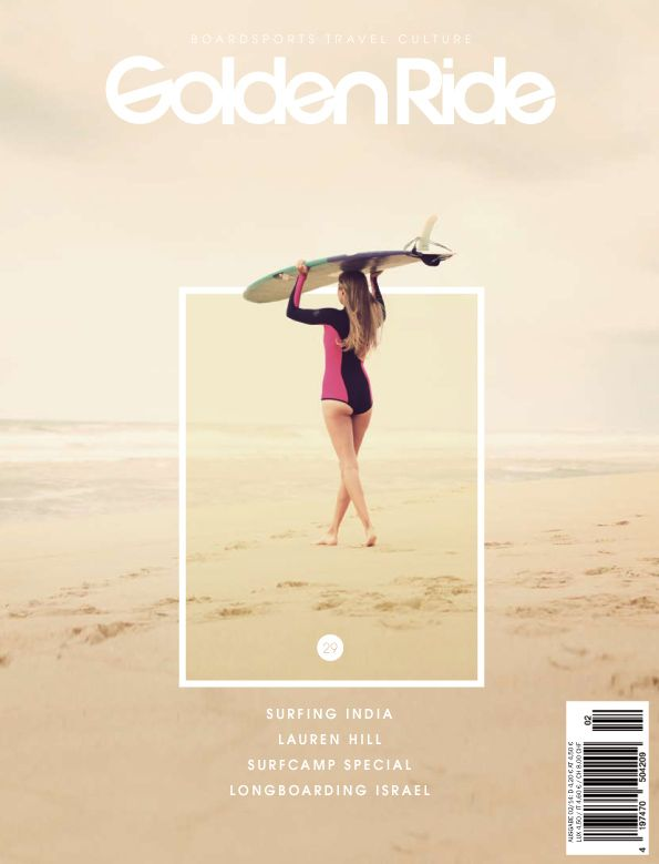 Cover for Golden Ride Magazine #Golden Ride Magazine #surf girl #lifestyle photography