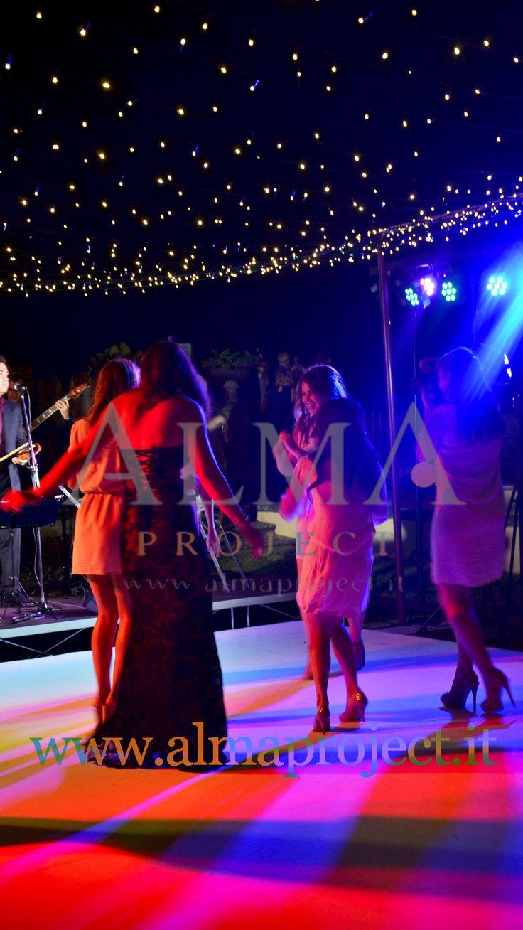ALMA Project @ Villa di Maiano - Fairy Lights - Dancefloor (White) - Starry ceiling Led Stripes 03
