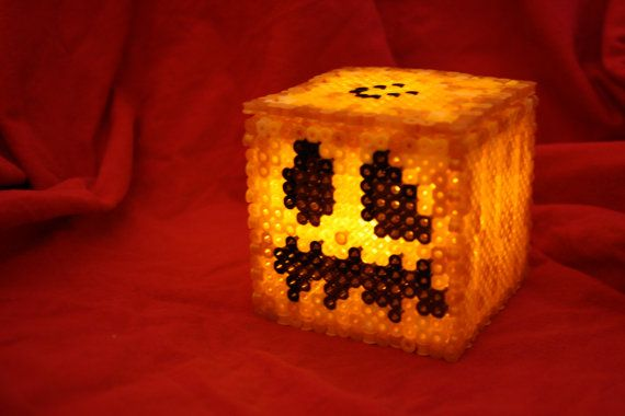 How to Make a Light-up Perler Bead Pumpkin Inspired by BraveDeity