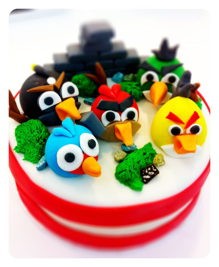 Customised 3D cakes - Angry birds