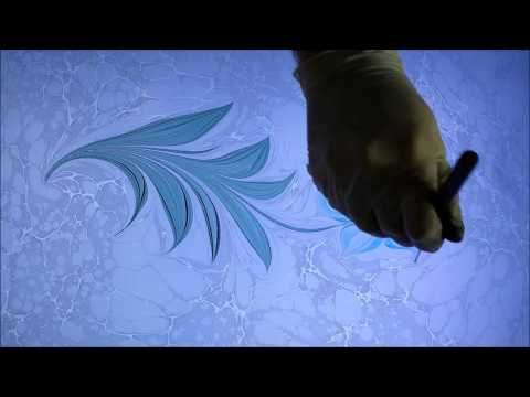 Ebru Sanati Cennet Lalesi , Marbling, Amazing Painting on Water, Turkish Marble Paper - YouTube