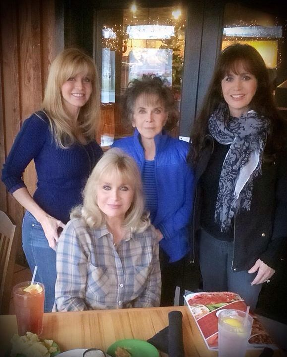 The Mandrell sisters with their mom