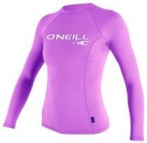 6oz Women's O'Neill Long Sleeve Rash Guard - in your choice of colors