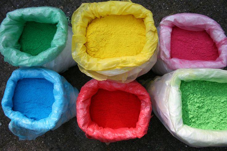 25 kilo bags of Holi Colors / Herbal Gulal / Holi Powders. Perfect for Color Runs