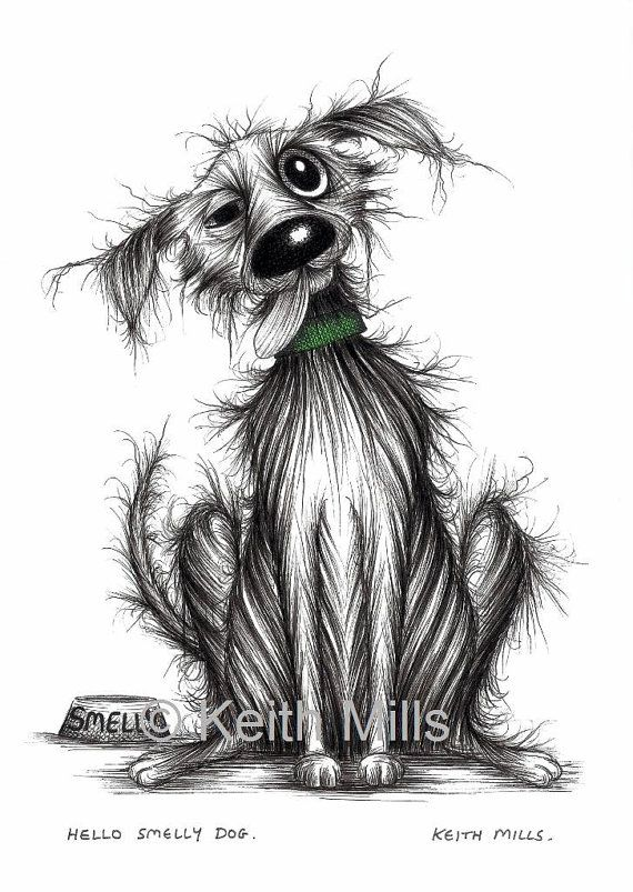 Hello Smelly dog Print download by KeithMills on Etsy, £3.00