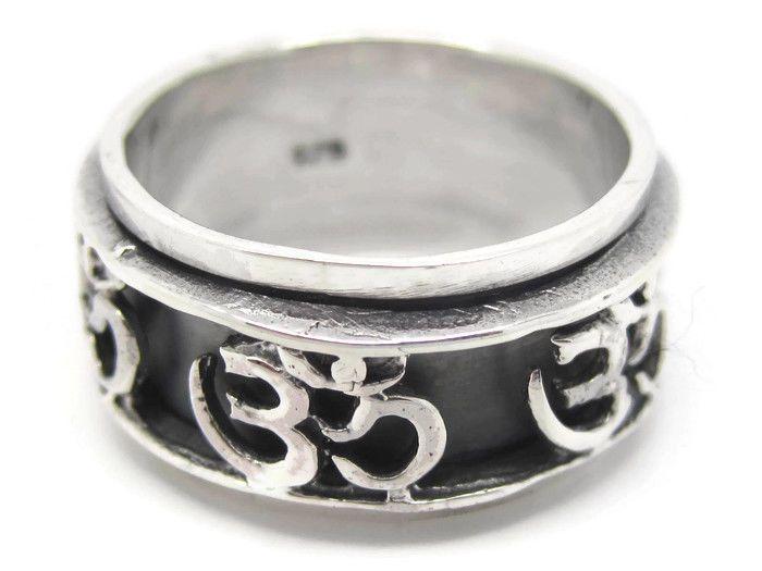 Sterling Silver OM or Aum Hindu Yoga Symbol Meditation ...