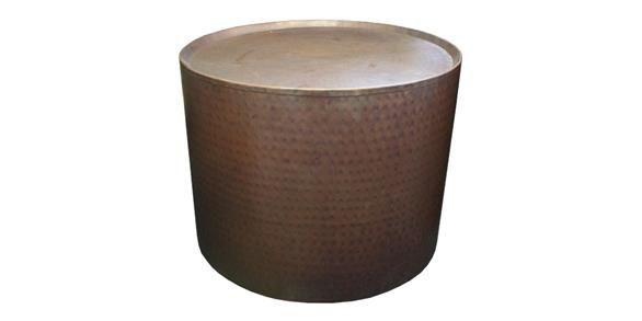 Wide Drum Table Copper Finish  60.5cmDiax46cm