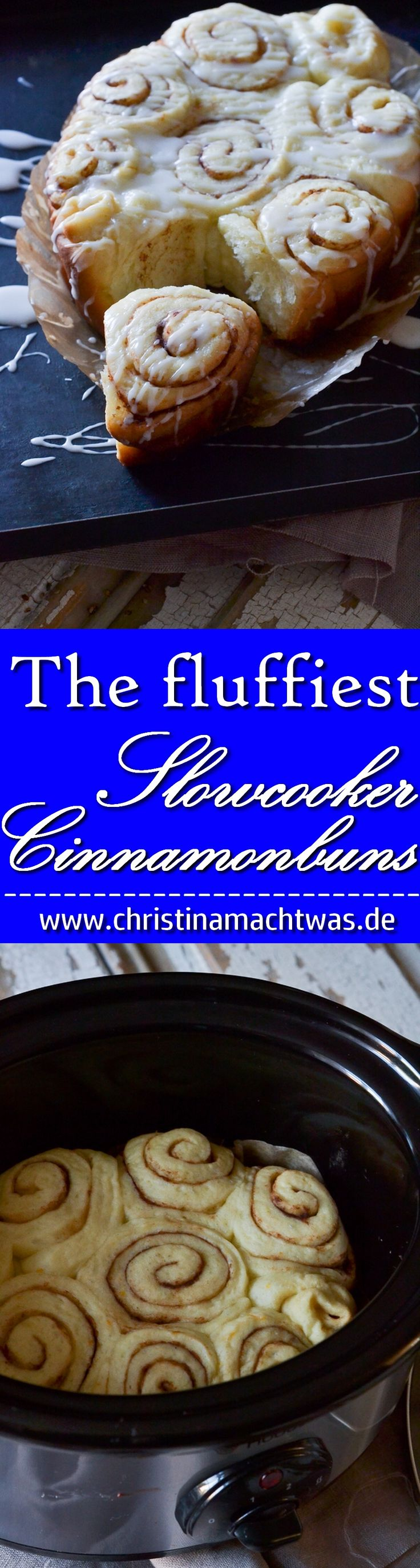 Die fluffigsten Slowcooker Zimtschnecken die ihr je essen werdet. Himmlisch wie eine Wolke und einfach nur aromatisch. _____________________________ The best and fluffiest Slowcooker Cinnamonrolls / Cinnamonbuns you'll ever eat.