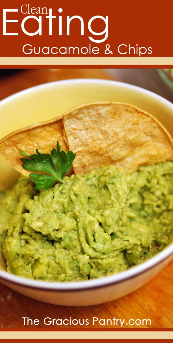 Clean Eating Guacamole & Chips: made it tonight with half the asked for onion and garlic powder and it was amazing!