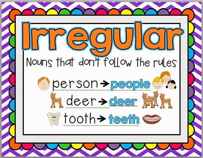 Free Irregular Plural Nouns poster
