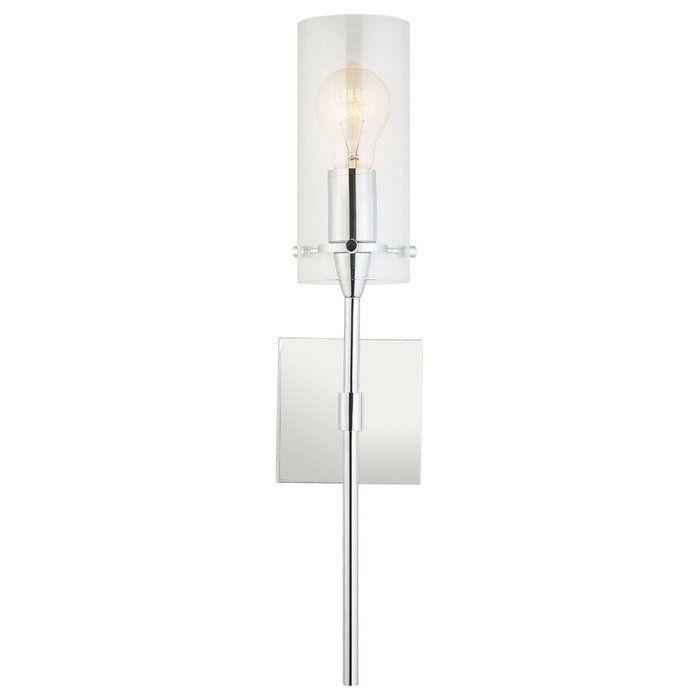 $55 Add a touch of modern sophistication to your home with this 1 Light Wall Sconce. Ideal for bedrooms, bathrooms, corridors and entryways, this 1 Light Wall Sconce provides generous lighting for spaces large and small. It uses one medium base bulb and is compatible with a number of options, including incandescent (60W max), compact fluorescent and LED (bulb not included). It is fully dimmable when used with a compatible bulb.