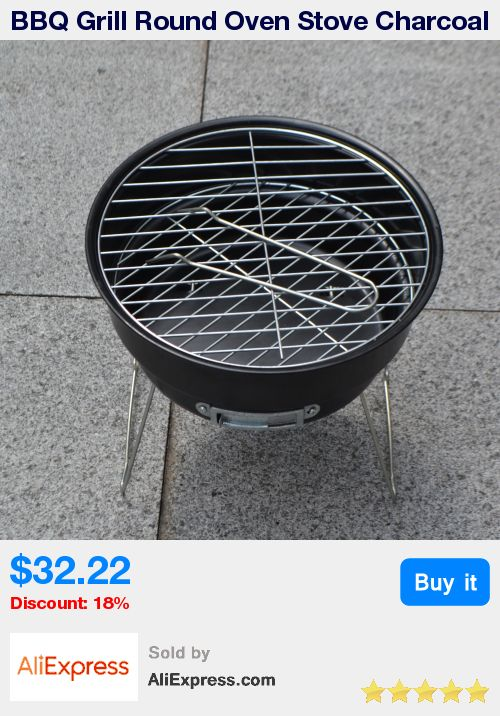 BBQ Grill Round Oven Stove Charcoal Mini Portable Barbecue Grills With Ice Bag Kits Outdoor Camping Party Supplies Churrasco * Pub Date: 16:23 Oct 19 2017