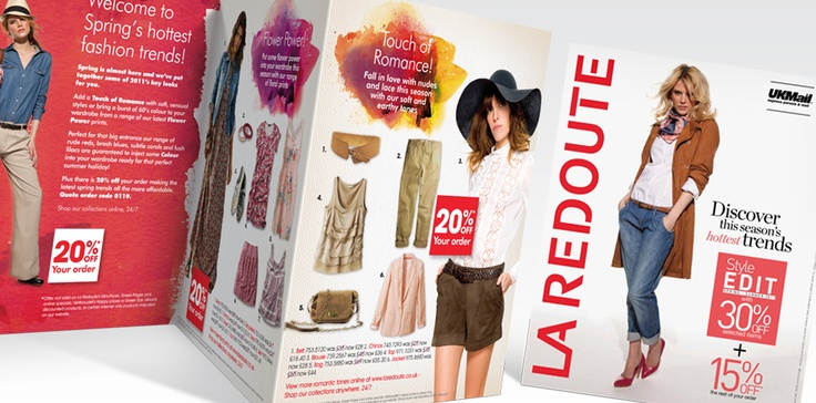 La Redoute bring a combination of french style and the lastest high street fashion right to your doorstep, offering a wide selection of own-label and well known brands such as Miss Sixty, Ralph Lauren and Kookai.  We are tasked with creating designs that are aimed at a female audience aged 18-45, that consistently deliver key brand values and clearly communicate the benefits of mail order fashion.