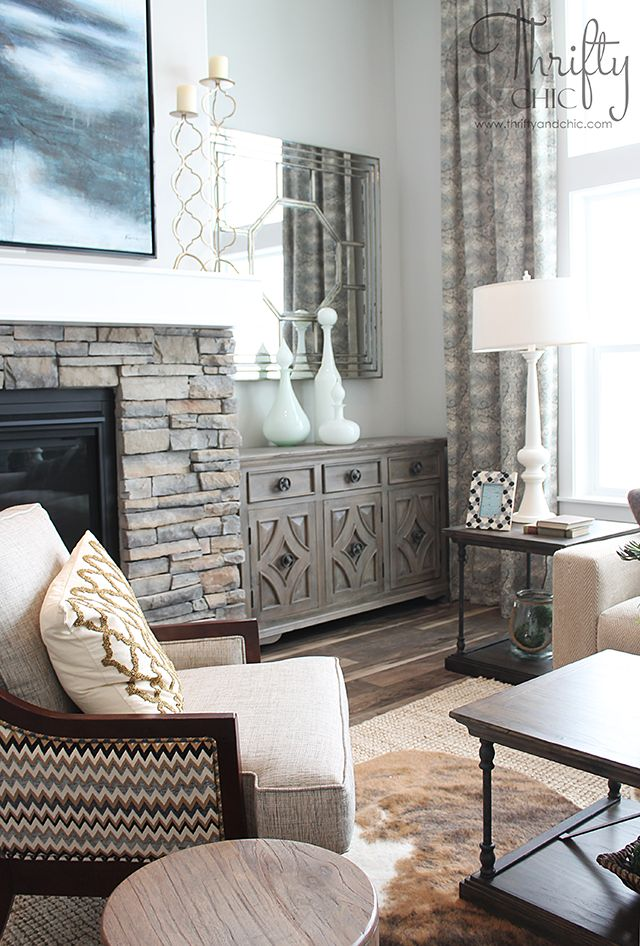 Charming Great Room And Living Room Decorating Idea And Model Home Tour