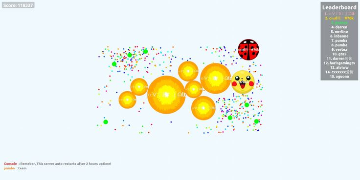 118327 mass in agar.io pvp agariohit.com nickname oᐯiᗪijᗩlt - Player: oᐯiᗪijᗩlt / Score: 118327