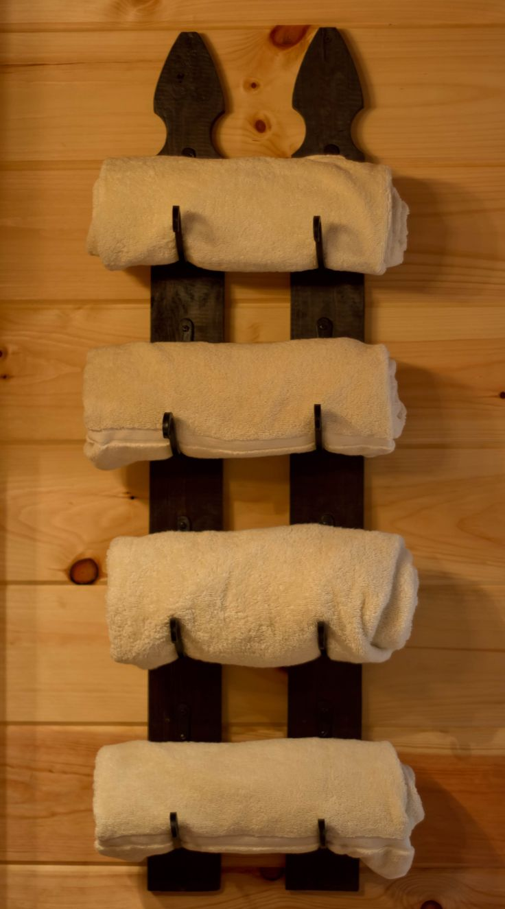 rustic+crafting   am so proud of my most recent craft creation: a towel rack made of ...