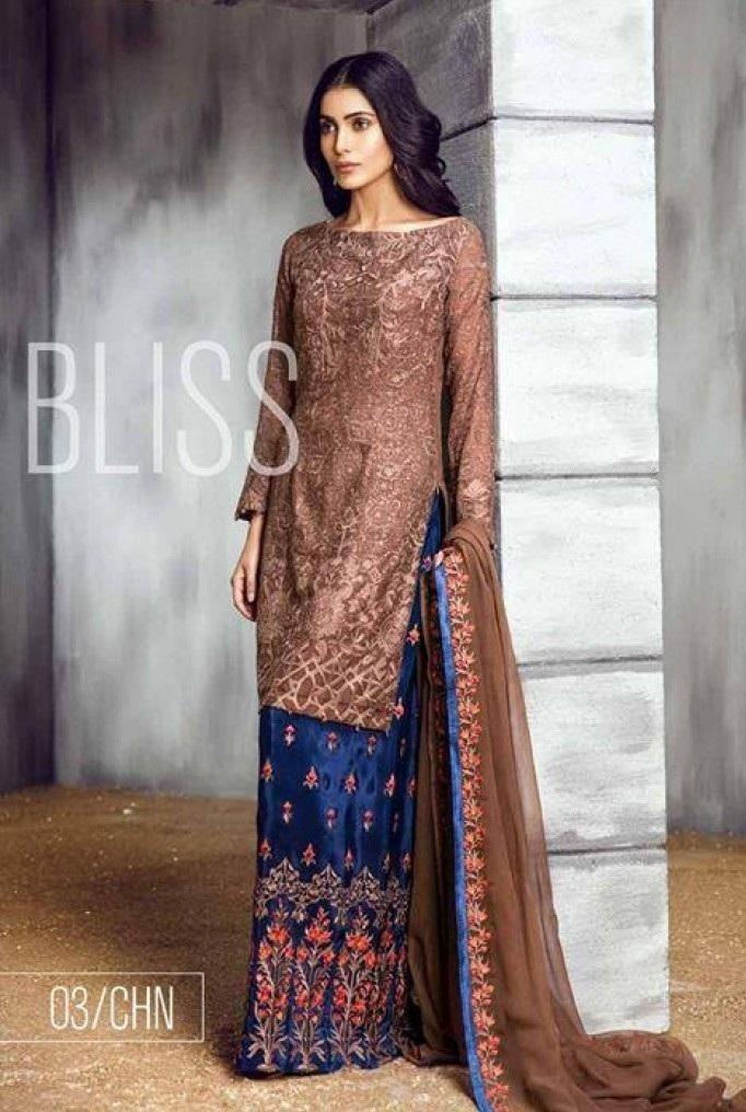 962b2e2d50 Iznik Chiffon Suit   Bridal Collection 2019   Dresses, Indian designer  wear, Designer dresses