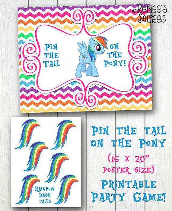 Pin the Tail on the Pony ~ Party Game ~ printable ~ My Little Pony game