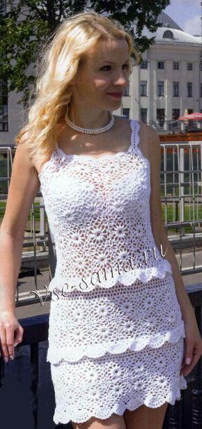Платье крючком из круговых мотивов. Обсуждение на LiveInternet - Российский Сервис Онлайн-Дневников