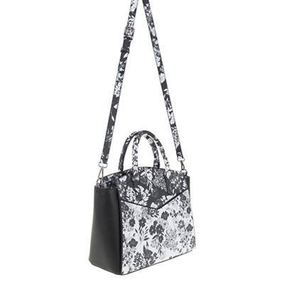 Parfois Flora black & white tote bag | Debenhams