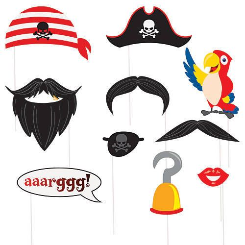 Pirate Photo Props: Would be fun to pull these out for a photo on board anytime esp. Pirate Night. Easy to pack also.