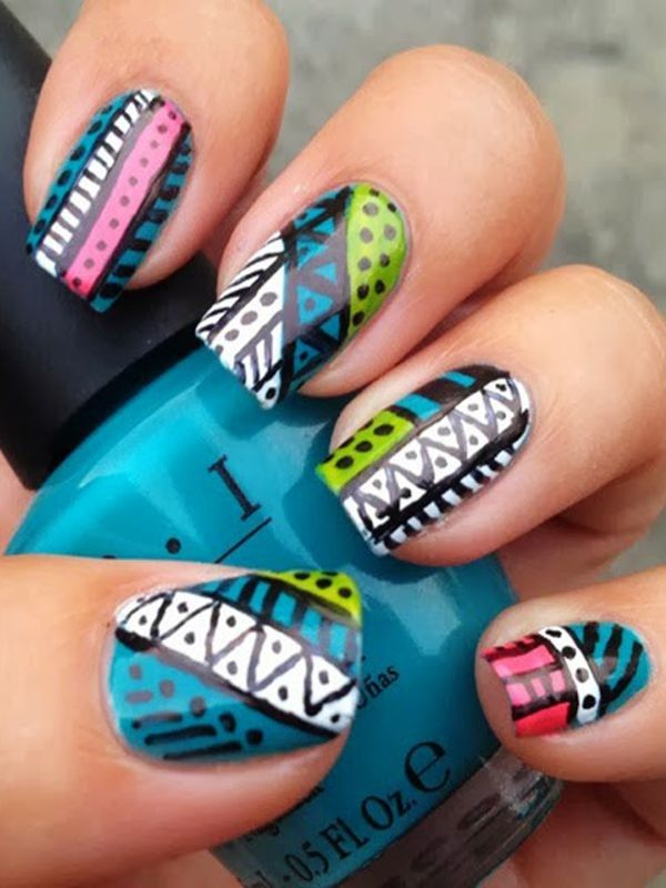 25 beautiful tribal nails ideas on pinterest tribal nail christmas vintage aztec tribal nailsblue and green tribal nails for girlschristmas aztec prinsesfo Image collections