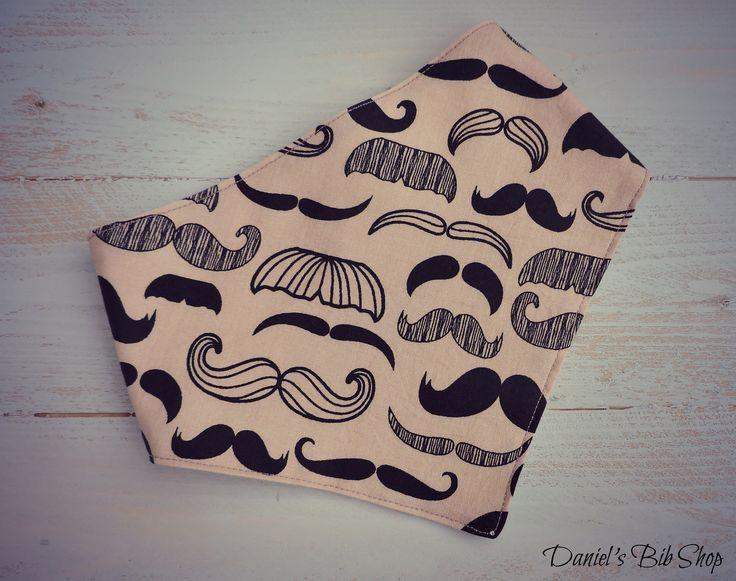 Handmade moustache baby bibdana