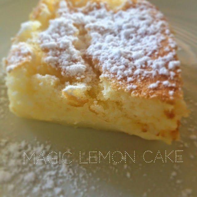 Le Magic lemon cake - A servir tiède !