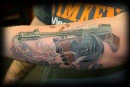 Tommy Gun Tattoo