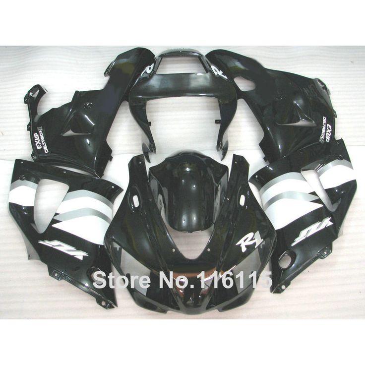 Injection molding ABS fairing kit for YAMAHA R1 1998 1999 YZF-R1 YZF R1 98 99 black white bodywork fairings set YS11 #Affiliate
