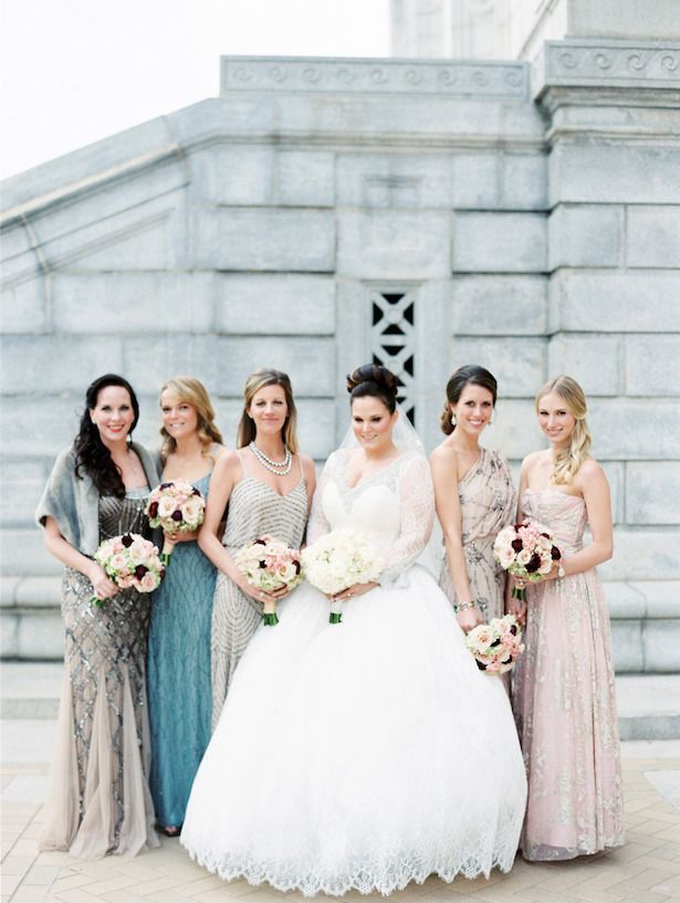 Beaded Bridesmaid Dresses ~ Clary Pfeiffer Photography