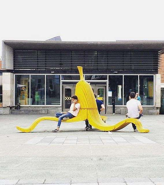 Banana bench, Montreal. Click image for link to more Montreal street decor and…