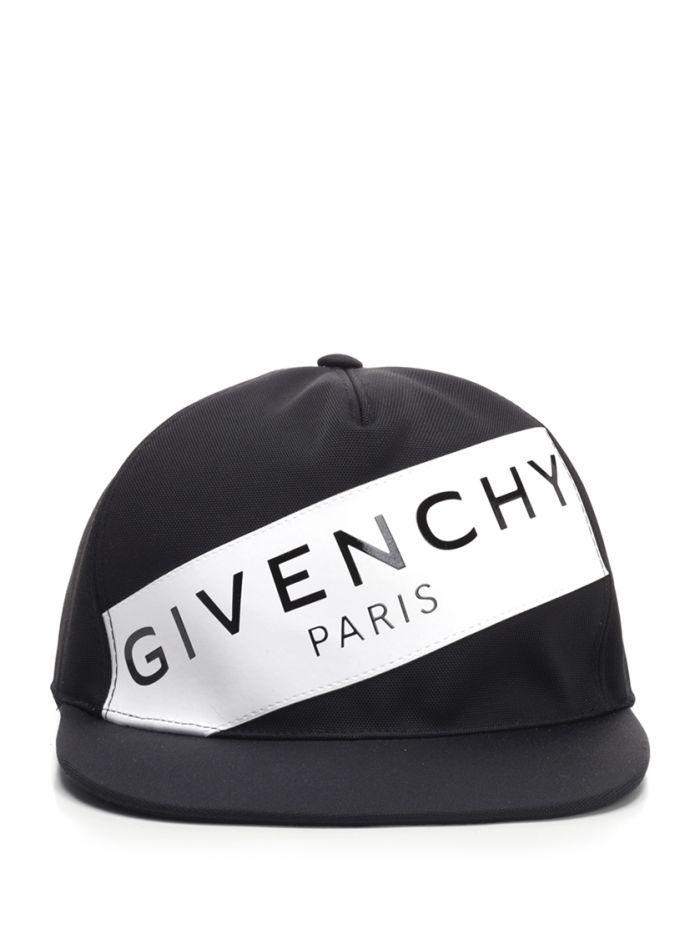5f4816dd GIVENCHY Black cap with logo. #givenchy Flat Bill Hats, Man Logo, Givenchy