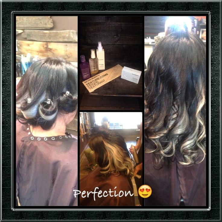 Beautiful colour and style by Michele Spooner, gorgeous ash tone with a dark base. Styles with KM Shimmer Shine, KM Easy Rider, KM Hair Resort Spray, KM Young Again Treatment and KM Texture Comb :) #loveit #kevinmurphy #colour #style