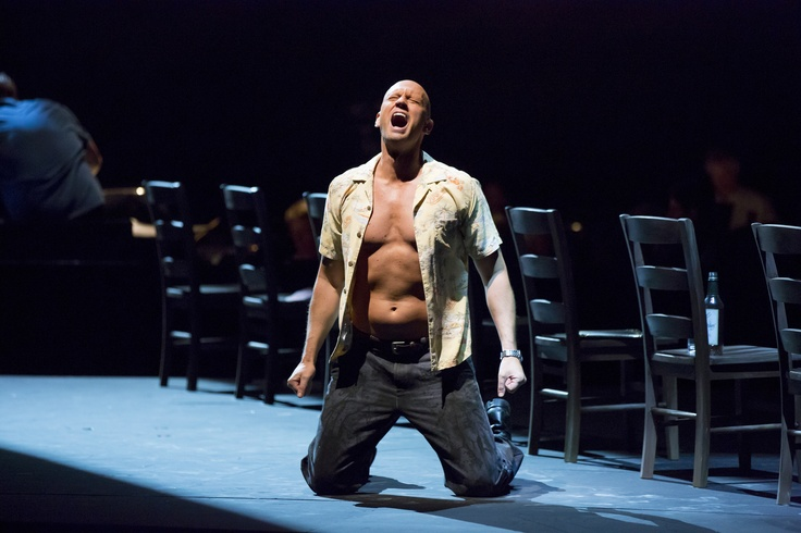 Teddy Tahu Rhodes as Stanley in A #Streetcar Named Desire at Lyric Opera of Chicago.  © Todd Rosenberg Photography 2013