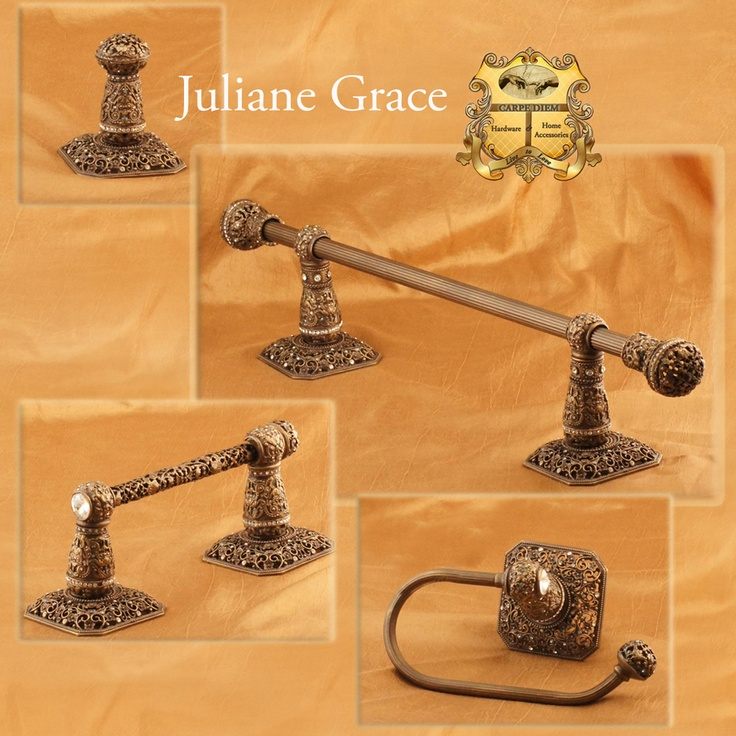 Carpe Diem Hardware Juliane Grace bath accessories collection