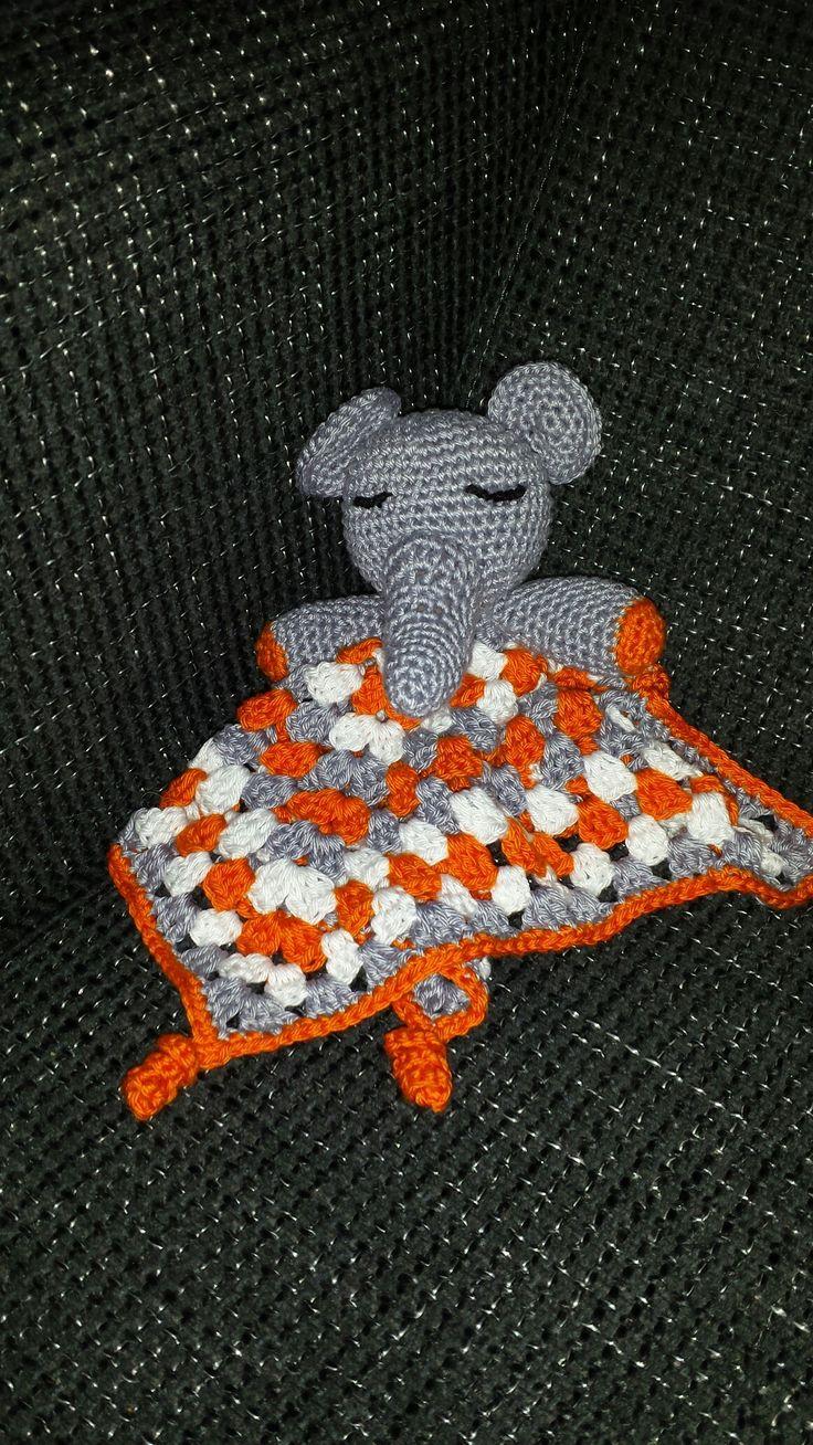 gehaakt olifant tutdoekje