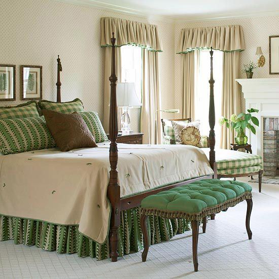the olde barn home decor inspiration - Green Bedroom Design