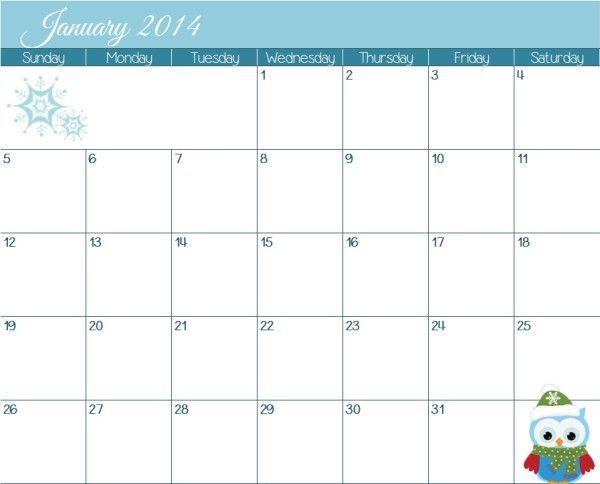 2014 Kalender Bedruckbare