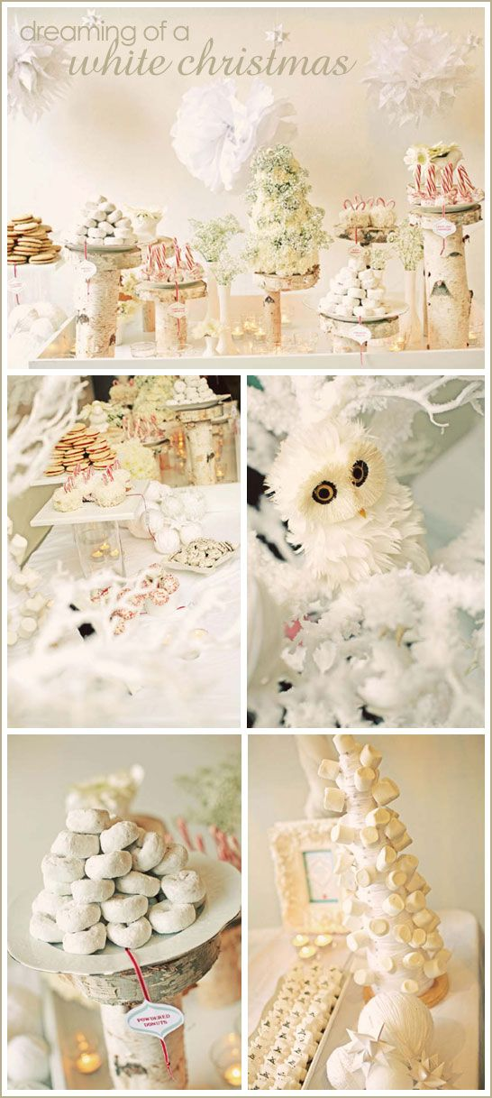 ~dreaming of a white christmas dessert table~