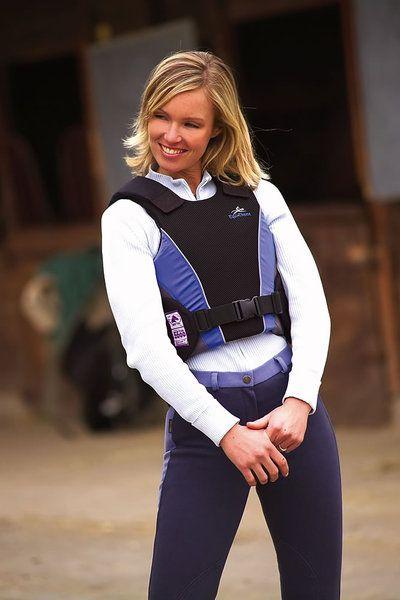 Gilet protettivo da adulti Equi-thème, leggero e flessibile, si adatta bene al corpo, regolazione spalle e chiusura con velcro.