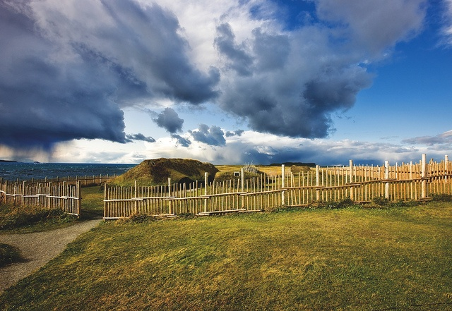 Viking Sod Hut in L'Anse aux Meadows National Historic Site by Newfoundland and Labrador Tourism, via Flickr