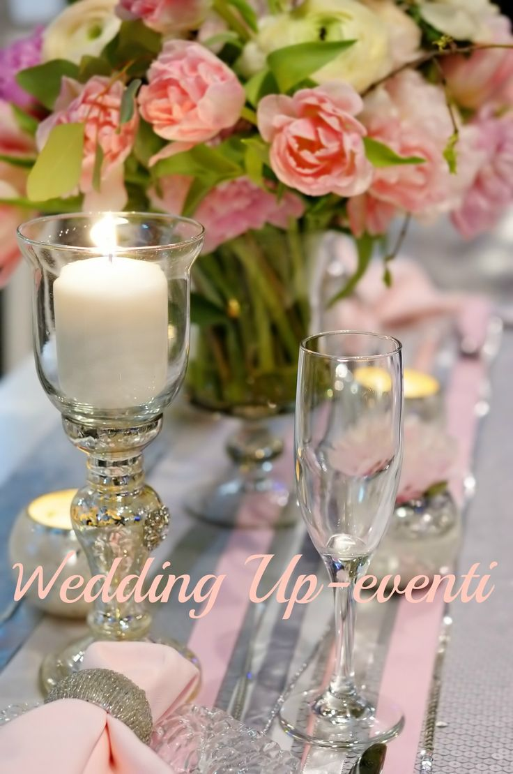 Argento e rosa in tavola