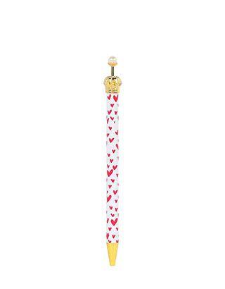 Dieser königliche Stift mit Goldkrone und hübschem Herzprint aus unserer London Kollektion verleiht Ihrer Schreibutensilienkollektion die königliche Ehrung.